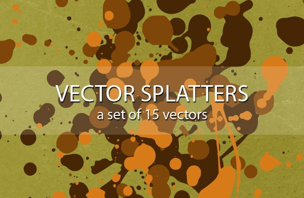 Ink Splatter Vectors
