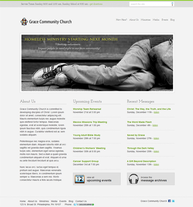 Stylish Church WordPress Theme
