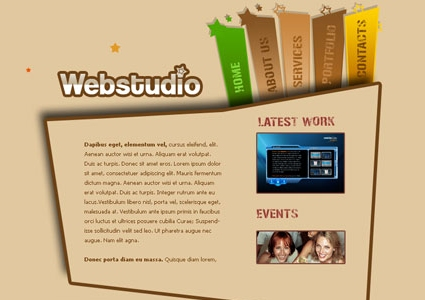 Stylish Web Studio Layout