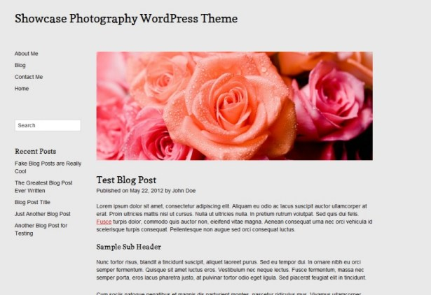 Documentation for Showcase Photography WordPress Theme