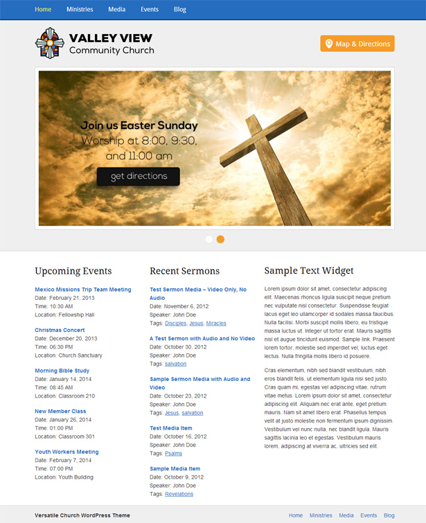 Versatile Church WordPress Theme