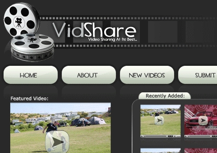 Video sharing layout