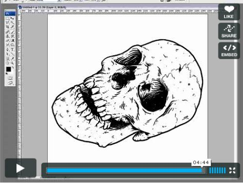 Draw a Skull with a Wacom Tablet