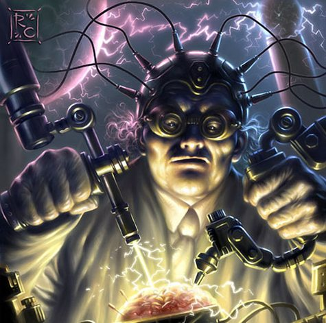 Photoshop and Painter Tutorial: Mad Scientist