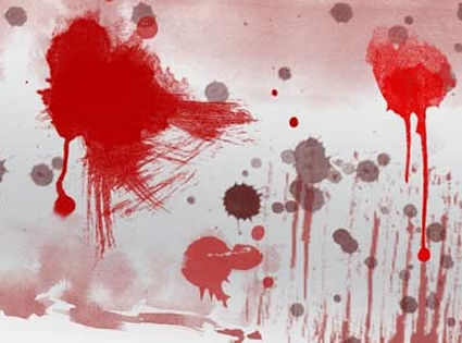 Make a Blood Stain Wallpaper