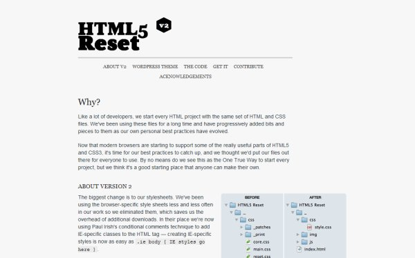 HTML5 Reset