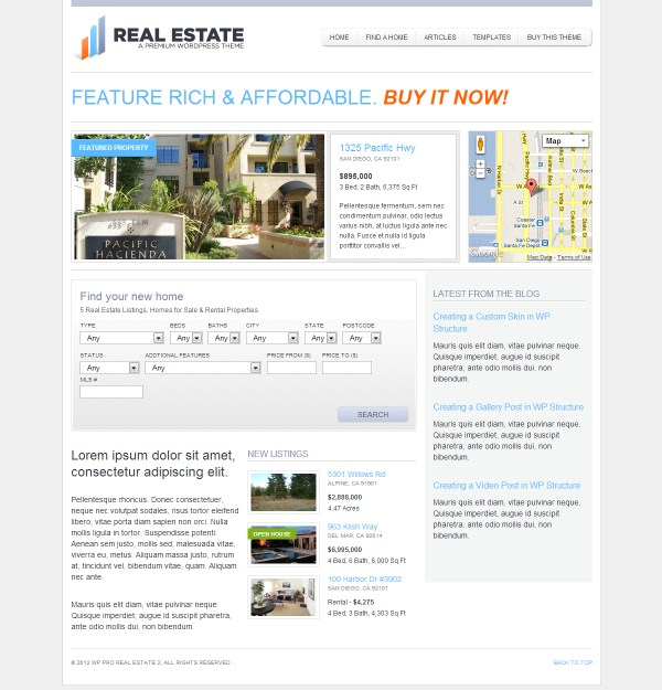 WP Pro Real Estate 2