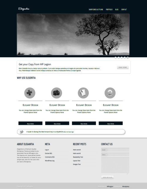 Elegantia WordPress Portfolio Theme