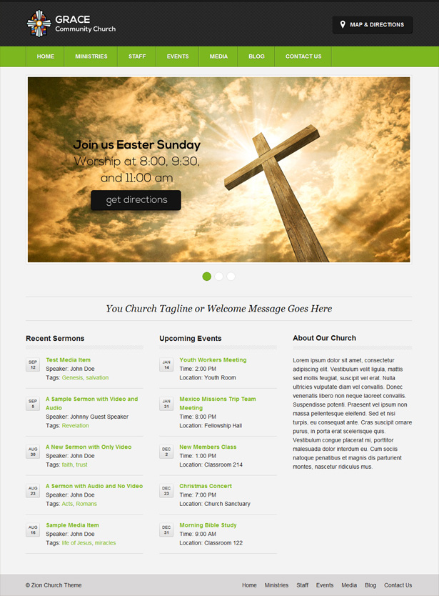 Zion WordPress Theme for Churches