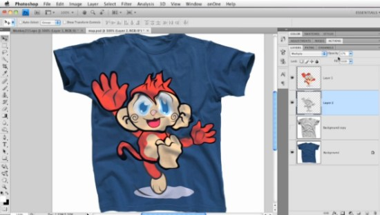 Designing a Layers T-Shirt in Photoshop