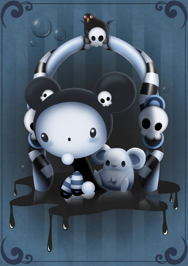 Create a Cute & Scary Children's Illustration in Photoshop
