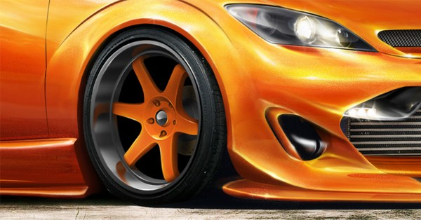 Create Custom Rims for Your Ride in Photoshop