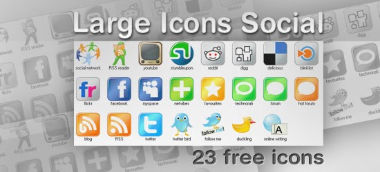 Large Icons Social