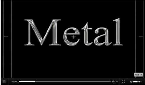 Metallic Text with After Effects