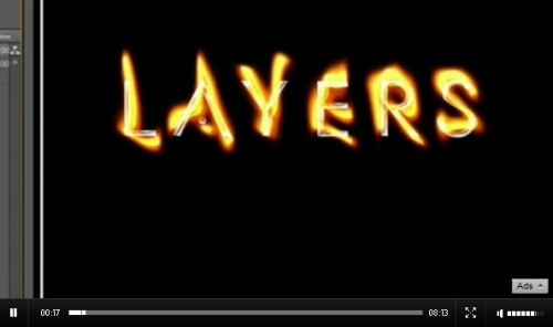 Flaming Chrome Text in After Effects