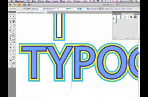 Striping Live Type in Adobe Illustrator