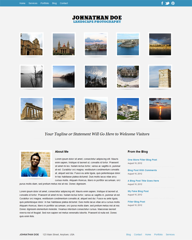 Auto Focus Responsive WordPress Photography Theme