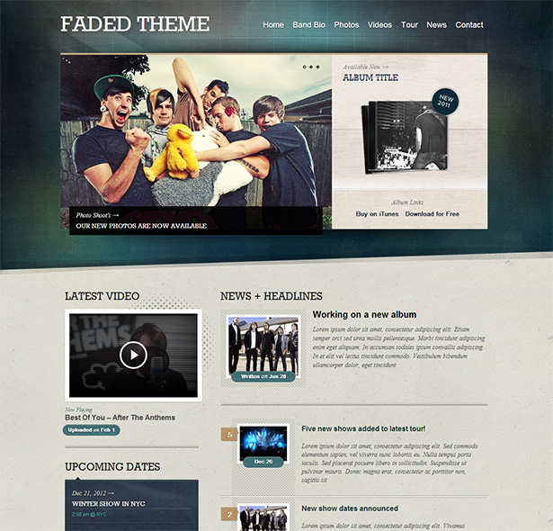The Best WordPress Themes for Bands and Musicians