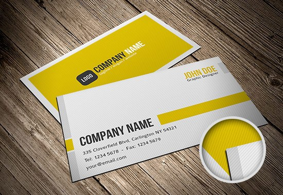 25 excellent business card templates for your own use business card template 4 accmission Gallery