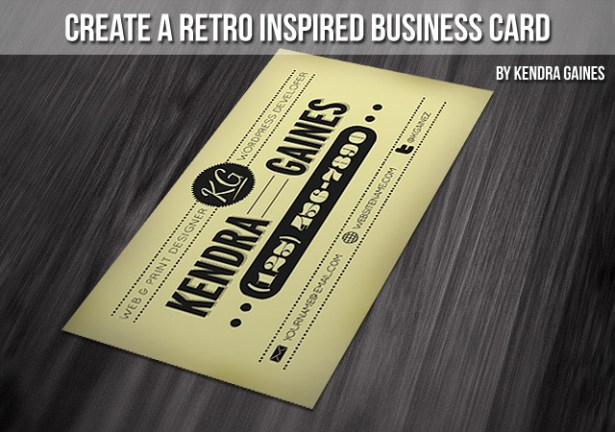 Create a Retro-Inspired Business Card