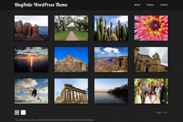 BlogFolio WordPress Photography Theme
