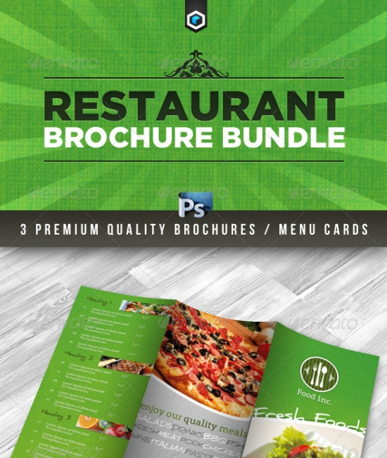 Premium Restaurant Brochure Bundle