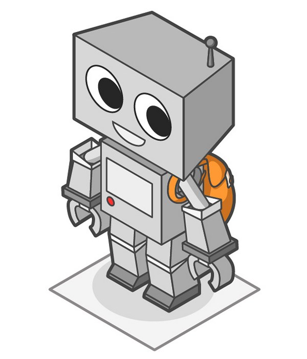 How to Create a Cute Robot Game Sprite Using SSR in Adobe Illustrator