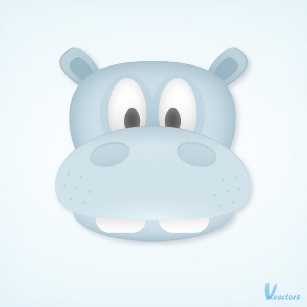 Create a Cute and Simple Hippo Face