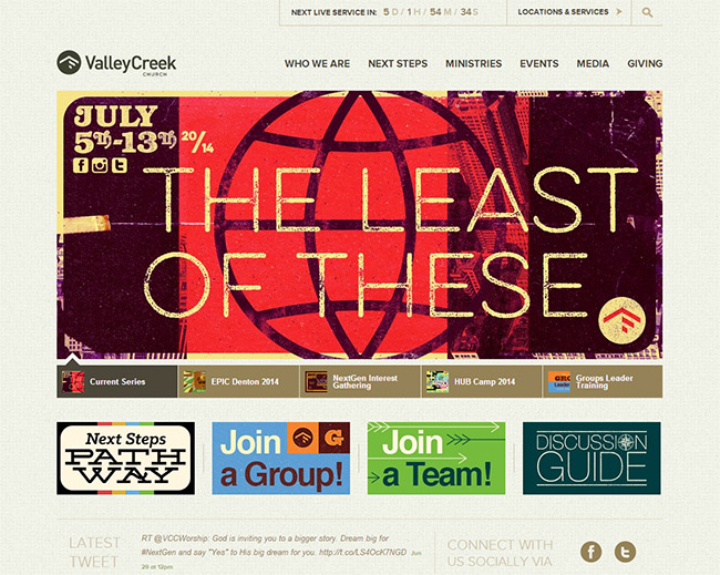 40 beautiful church website designs valley creek church fandeluxe Images