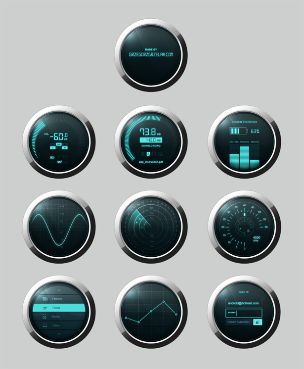 Dashboard PSD - Source File Free Download