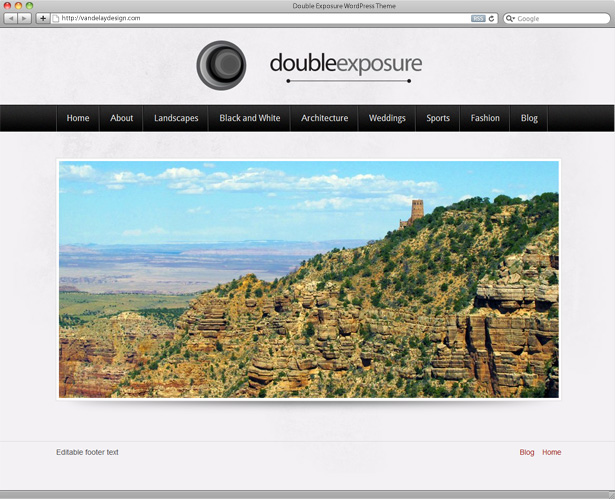 Double Exposure WordPress Theme