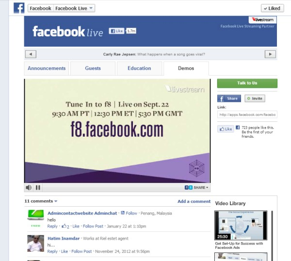 Facebook - Welcome Page
