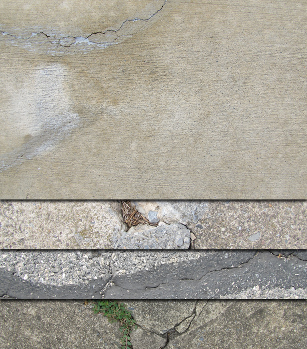 Free Cracked Pavement Textures