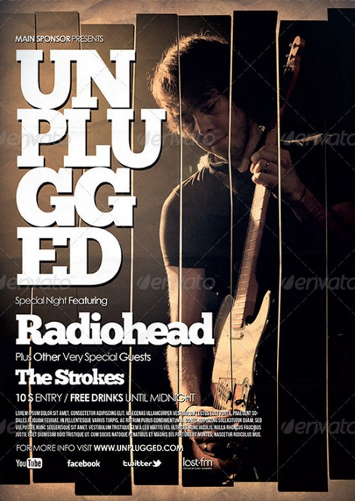 Unplugged Flyer/Poster 2