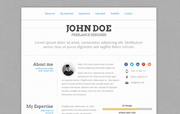 Freelancer Resume & Portfolio