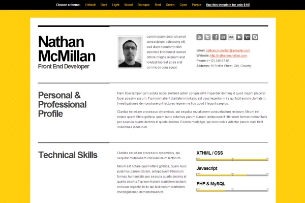 Bold CV/Resume Template