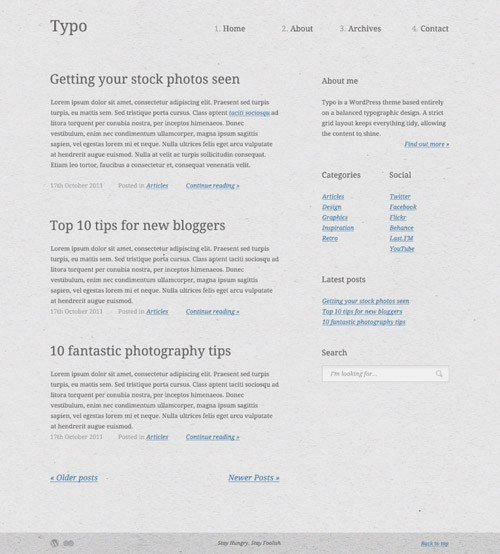 Create a Typography Based Blog Layout in HTML5