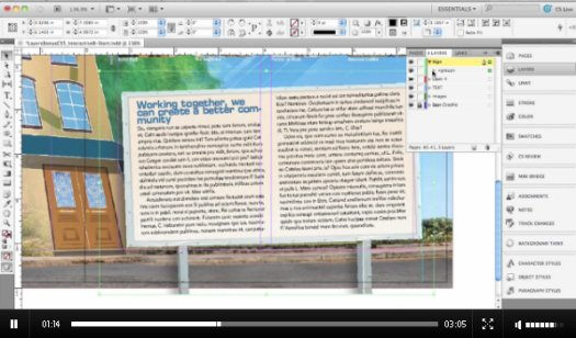 InDesign CS5: Layers Panel