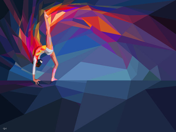 Graphics for Yahoo advertising campaign for the coverage of London 2012