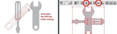 Using the Pathfinder and Align Tool in Illustrator