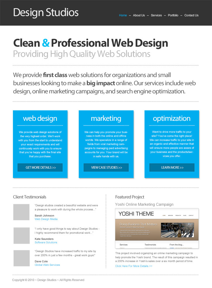 How to Design a Clean Business Website with Photoshop