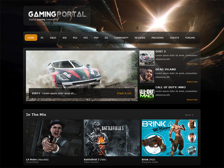 Learn to Create a Gaming Website in Photoshop