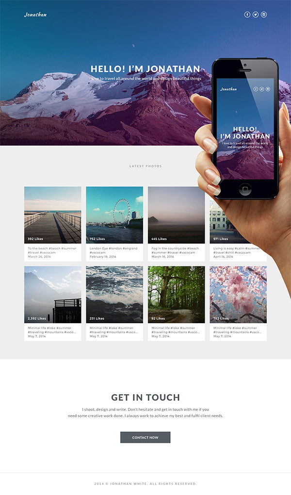 Designing a Simple Instagram Based Portfolio in Photoshop