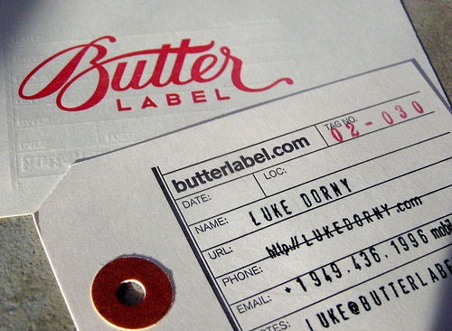 Butter Label