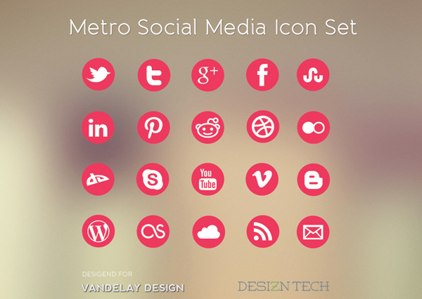 Free Download: Metro Social Media Icon Set