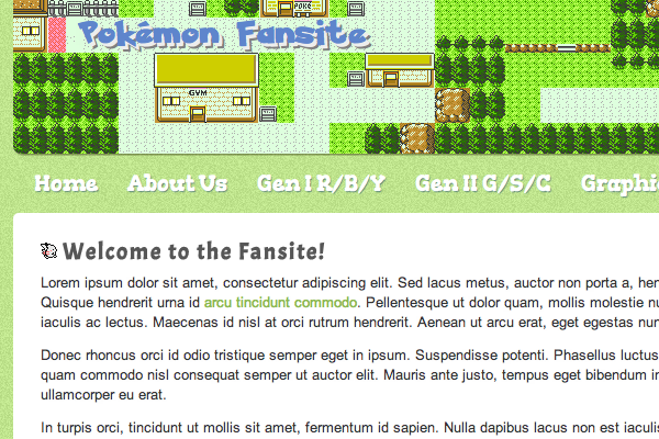 Coding a Pixel-Style Video Game Fansite in HTML5/CSS3