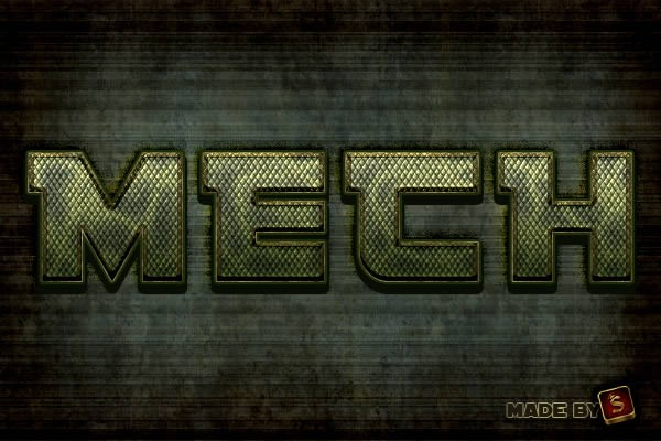 Create a Mech-Inspired Text Effect in Photoshop Using Layer Styles