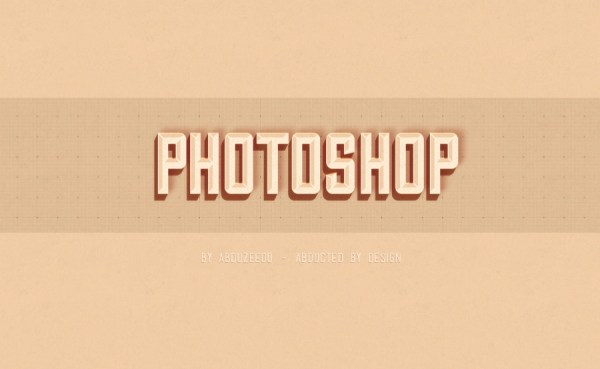 Hipster Text Effect in Photoshop