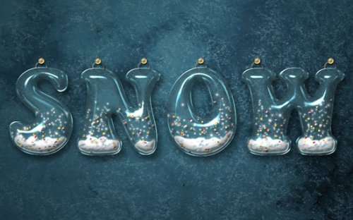 Glossy Snow Globe Text Effect