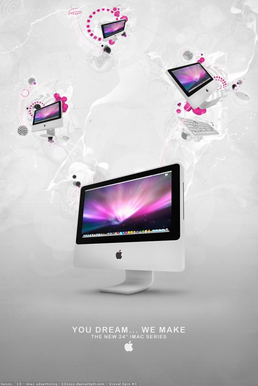 Composite an iMac Render into an Incredible Apple Advertisement